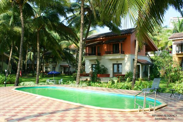 Miramar residency goa for Guest house in goa with swimming pool