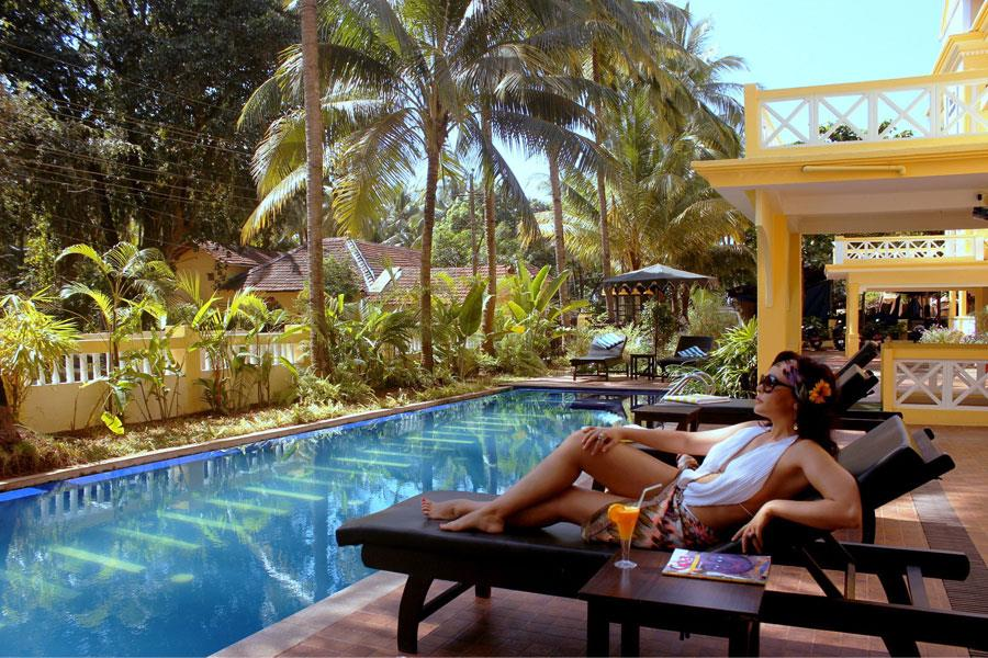 Goa hotels tubki palolem beach hotel goa for Resorts in goa with private swimming pool